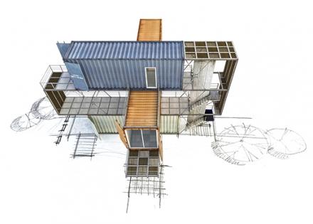 Container Building sketch