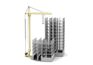 3D tower with crane